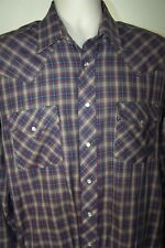 ATB Authentic Mens Western Cut Shirt, Pearlized Snaps, Size 16 36/37