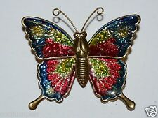 WOW Vintage Metal Colorful BUTTERFLY Lapel Pin Brooch Rare