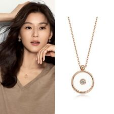 STONE HENGE LA STELLA FLOATING STONE P1135 NECKLACE 14k Gold Ji hyun 全智賢 Arafeel