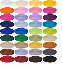 50m Gurtband 20 25 30 40 50mm Taschenband schwarz weiß 38 Farben Farbwahl