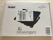 NEW VENCCI Laptop Cooling Pad  S-035 Notebook 5 Fan Coolers Pads 2 USB Ports