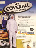 Comfort Wear 3 Ply Coverall With Hood And Boots Size 2XL -Tear & Abrasion Resist