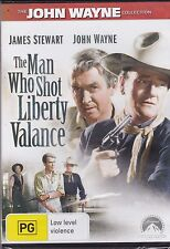 THE MAN WHO SHOT LIBERTY VALANCE -  James Stewart, John Wayne, Vera Miles - DVD