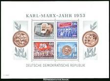DDR #MiBl9A MNH S/S CV€100.00 1953 Marx Stalin Lenin [146a]