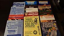 Lot of 14 brass instrument music books trombones and baritones