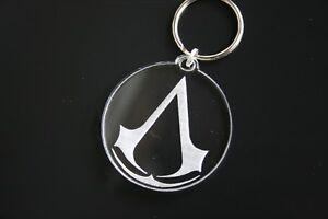 Laser Engraved Acrylic Keyring Assassin's Creed Logo