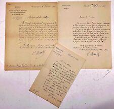 Mouchez, Ernest - Astronom - 3 signierte Briefe an Hugo Gylden 1880/91