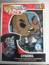 Funko POP! Tees Mini Pack Teen Titans Go! Cyborg Figure & T Shirt Large L