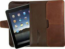 Targus PREMIUM Leather Portfolio Tablet Case iPad & iPad Mini Sleeve Cover-Brown