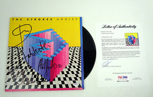 The Strokes Full Band Signed Autograph Angles Vinyl Record Album PSA/DNA COA
