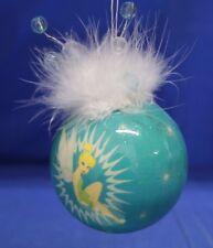 "Tinker Bell 2-3/4"" Decoupage Ball Christmas Ornament Disney 2006 Peter Pan"