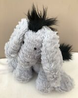 Jellycat Medium Fuddlewuddle Donkey Soft Toy Baby Comforter Soother Grey