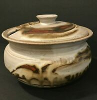 Vintage Hand Thrown Studio Art Stoneware Pottery Ceramic Soup Tureen Mid Century