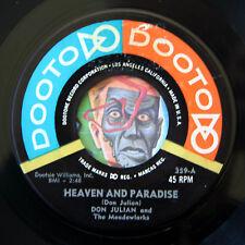 HEAR Don Julian Meadowlarks 45 Heaven Paradise/Embarrassing Moments EX doo wop