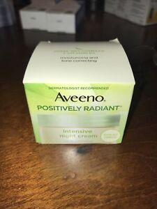 Aveeno Positively Radiant Intensive Moisturizing Night Cream -1.7 oz