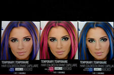 NIB Set Purple-Hot Pink-Blue Temporary Hair Dye Color Kit Comb In Wash Out