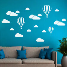 New White Clouds Hot Air Balloon Wall Sticker For Art Background Wall Stickers