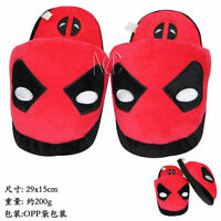 Deadpool Plush Slippers Soft Stuffed Home Indoor Shoes Warmer  28cm