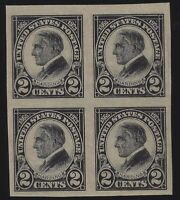 US Stamps - Scott # 611 - Imperf Block of 4 - Mint Never Hinged          (D-142)