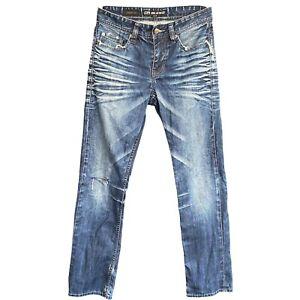 Blend Mens Blue Denim Jeans Size W77/30 Straight Leg 100% Cotton Distressed