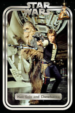 STAR WARS HAN SOLO AND CHEWIE RETRO  91.5X61CM MAXI POSTER NEW OFFICIAL MERCH
