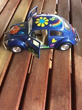 1967 Volkswagen Classic Beetle Blue Model Car 1:32 12.5cm Die Cast Pull Back