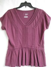 """COTTON COMFORTABLE TOP SIZE S [W.32-34""""] LOOSE FIT WINE 75%OFF MSRP $30.00 NEW"""