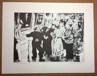 """Peggy Bacon Antique 1939 PRINT """"Esthetic Pleasure"""" vintage print"""