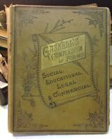 Gaskell's COMPENDIUM  OF FORMS Prof GA Gaskell  1883 26th Edition Illustrated