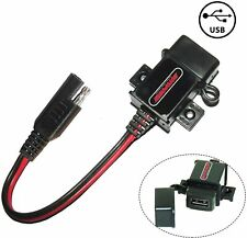 New listing Motopower Mp0609 3.1Amp Motorcycle Usb Charger Sae to Usb Adapter