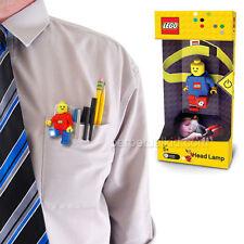 LEGO LED TASCHENLAMPE HEADLAMP MIT STIRNBAND + CLIP 7cm