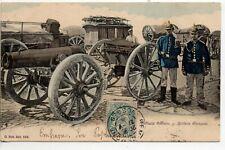Thème VIE MILITAIRE & Guerre SCH Schirmeck Artillerie allemande canon Colorisée