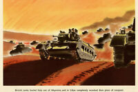 WPA War Propaganda British Tanks Hurled Italy Out Of Abyssinia Poster - 18x12