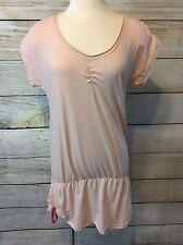 Lole Activewear Organic Cotton Tunic Top Size M Short Sleeve Wicking Shirt Yoga