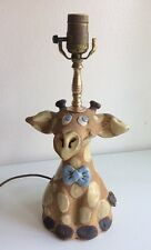 LaPointe Pottery Vintage Sculpted Giraffe Lamp Signed by Noreen