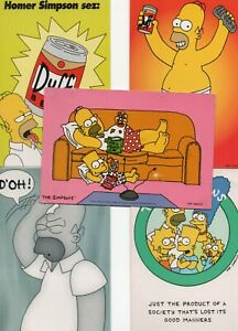 5 postcards:  THE SIMPSONS TV CARTOON PROGRAMME