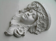One Exquisite Beautiful Lady Plaster Corbel (Shabby Chic)