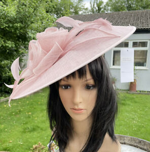 NIGEL RAYMENT BLOSSOM PINK DISC HATINATOR WEDDING ASCOT HAT OCCASION FORMAL