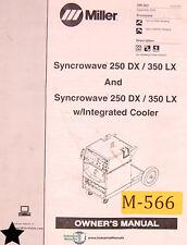 Miller Syncrowave 250dx 350lx Welder Owners Manual