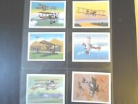 Tom thumb  HISTORY OF BRITISH AVIATION  planes set 30 cards Tobacco Cigarette