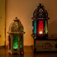 KQ_ Moroccan Style Glass Lantern Tea Light Candle Holder Wedding Home Party Deco