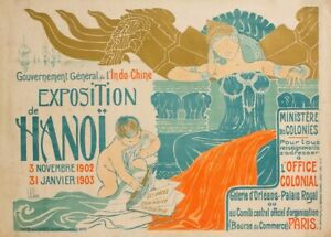 Vietnam Exposition in Hanoi, 1900's, Reproduction Vintage Travel Poster