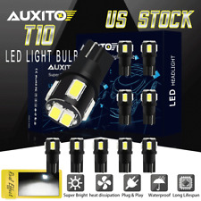 10X White T10 W5W 2825 158 168 194 6SMD Interior Dome LED Car Wedge Light Bulbs