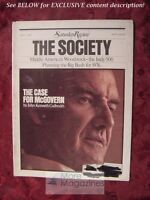Saturday Review July 1 1972 GEORGE McGOVERN JOHN KENNETH GALBRAITH STUDS TERKEL
