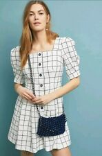 $198 ANTHROPOLOGIE DAWN WINDOWPANE SHIRTDRESS Size 6 New With Tags