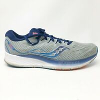 Saucony Mens Ride ISO 2 S20514-1 Gray Blue Running Shoes Lace Up Low Size 10