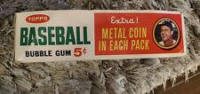 1964 TOPPS BASEBALL DISPLAY BOX 5 CENT METAL COIN VERSION NO TOP STAN MUSIAL