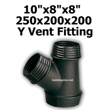 """10""""X8""""x8"""" 250X200X200 Y DUCTING PIECE JOINER AIR COOLING VENTILATION FAN DUCT"""