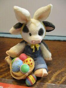Mary's Moo Moos Enesco Cow Hoppy Easter to Moo Bunny Rabbit Basket 738328