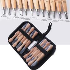 12 pcs SK7 Carbon Steel Wood Carving Tool Set Knife Kit Pro Stronger Sharp
